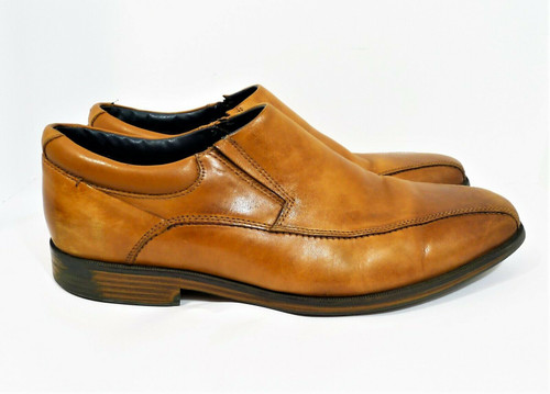 Dockers Men's Brown Leather Slip On Casual Dress Shoes Size 13 - 79-217951