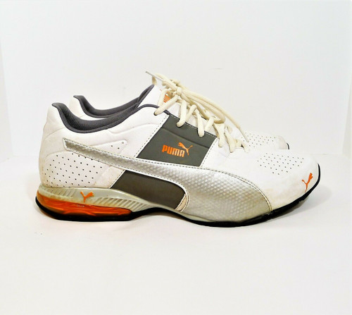 Puma Men's White/Silver Cell Surin 2 Cross-Training Shoe Size 10.5