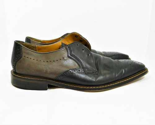 Giorgio Brutini Men's Black/Gray Lace Up Dress Shoes Size 12 M - MISSING STRINGS