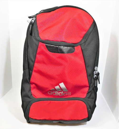 Adidas Black and Red Hydroshield Stadium Team Backpack - **NAME ON STRAPS