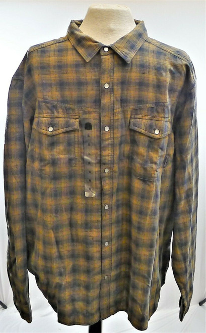 Columbia Men's Brown/Blue Plaid Long Sleeve Shirt Size XL - NEW WITH TAGS
