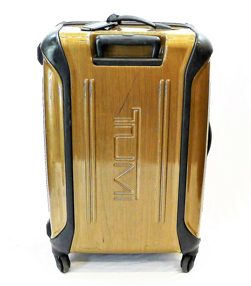 Tumi Brown Hardshell Short Trip Rolling Luggage - **NO KEY / CRACKED SEE DESCRIP