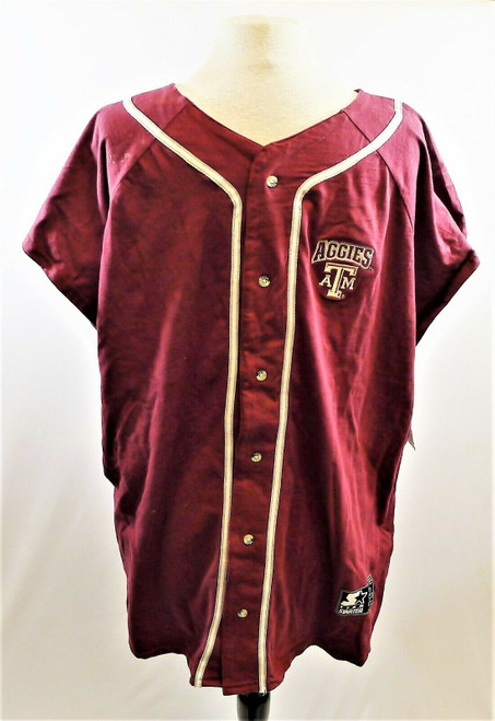 Starter Men's Maroon Texas A&M Button Up Jersey Shirt Size XL