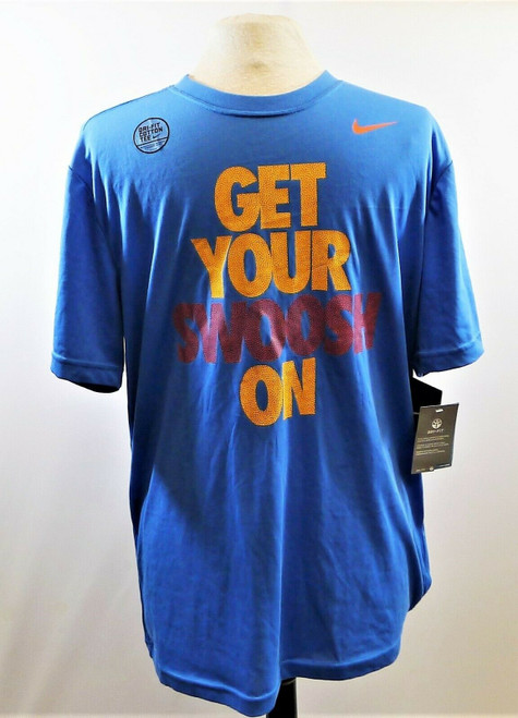 Nike Men's Blue Dri-Fit Get Your Swoosh On T-Shirt Size L