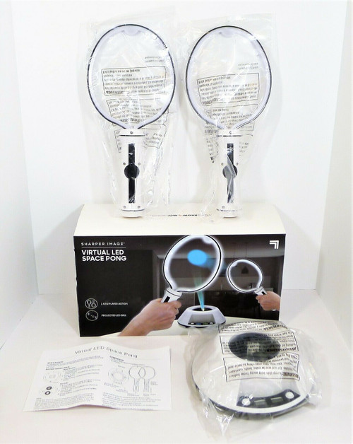 Sharper Image Virtual LED Space Pong Game - OPEN BOX - BATTERIES NOT INCLUDED