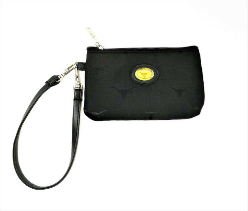 Broad Bay Black Longhorn Wristlet Purse