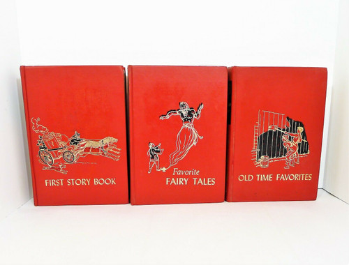 Vintage The Children's Hour Hardcover Books Volumes 1-3