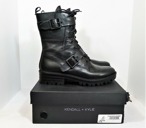 Kendall + Kylie Women's Black Multi Leather Eliya Mid-Calf Boots Size 11 M