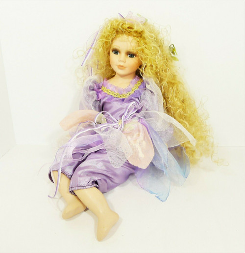Cathay Collection Porcelain/Cloth Doll Blonde Fairy 425/5000 **SEE DESCRIPTION