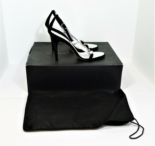 Report Signature Women's Zoey Black Suede Strappy Embellished High Heels Size 6