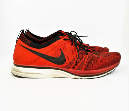 Nike Men's University Red Flyknit Trainer Athletic Shoes Size 13 - 532984-610