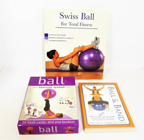 Simply Ball & Band Workout DVD's, Book, Flash Cards *BALL AND BAND NOT INCLUDED