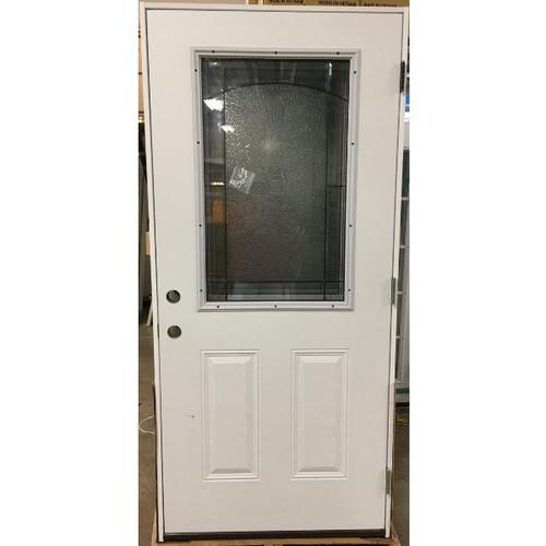 """3/0 36"""" X 82"""" Half Lite Steel Exterior Pre-Hung Door"""