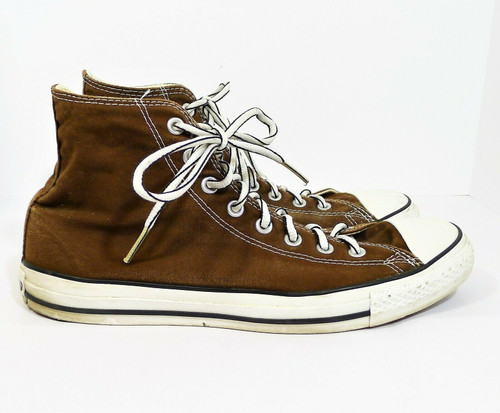 Converse Unisex Brown Chuck Taylor All Star Hi Top Shoes Men's 11 Women's 13