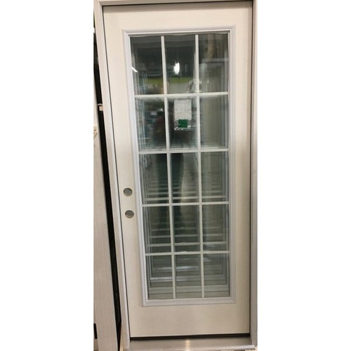 """2/8 (32"""" x 80"""")  Exterior Pre-Hung 15 Lite Grid Door (Local Pickup Only)"""