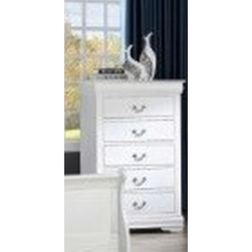 Louis Phillip White Chest of Drawers (B3600-4) (Local Pkup Only))