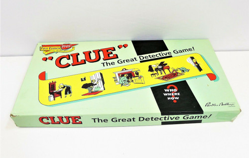 Clue First Edition 1949 Classic Reproduction Detective Game **SEE DESCRIPTION