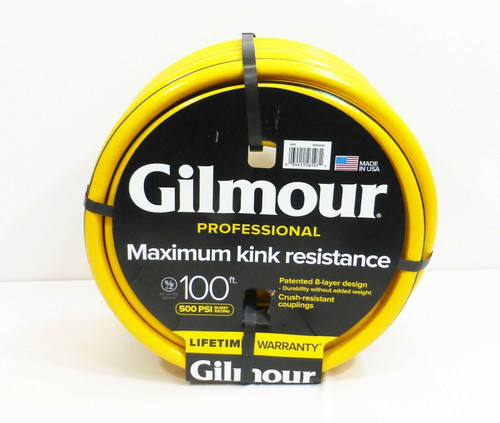 "Gilmour 5/8"" Dia. 100ft. Maximum Kink Resistance Garden Water Hose 500PSI  NEW"