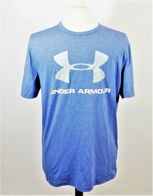 Under Armour Men's Blue Heat Gear Loose Crew Neck T-Shirt Size Small