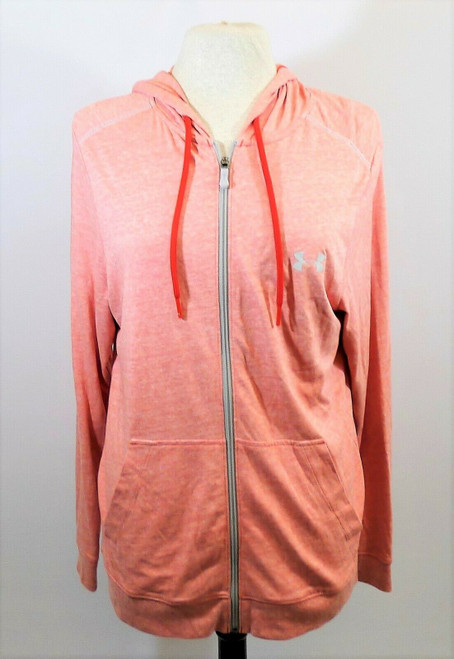 Under Armour Women's Red Daiquiri Loose Zippered Hoodie Jacket Size Small