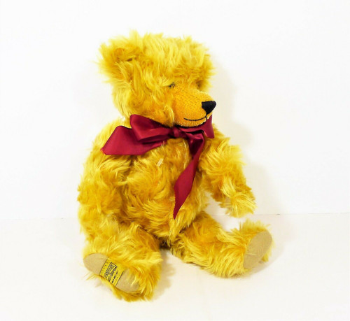 """Merrythought 11"""" (Sitting) Squeak Mohair Bear 0948 of 2500 Limited Edition"""