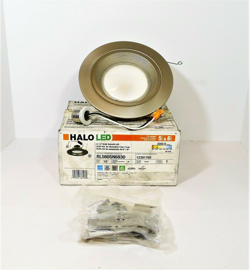 HALO Satin Nickle 6-Inch Retrofit LED Lighting Trim RL560SN6830 - OPEN BOX