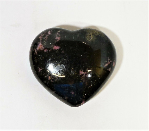 "Polished Rhodonite Heart Black-Pink Natural Gemstone Crystal 3 ""T x 3.5"" W"
