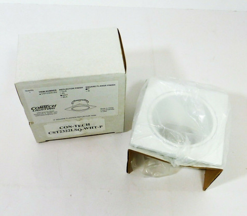 """Contech Lighting 2"""" Square Flanged Reflector Trim in White CST2322LSQ  NEW"""