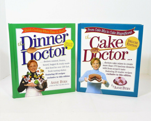 The Cake Mix Doctor & The Dinner Doctor Hardback Books Cookbooks by Anne Byrn