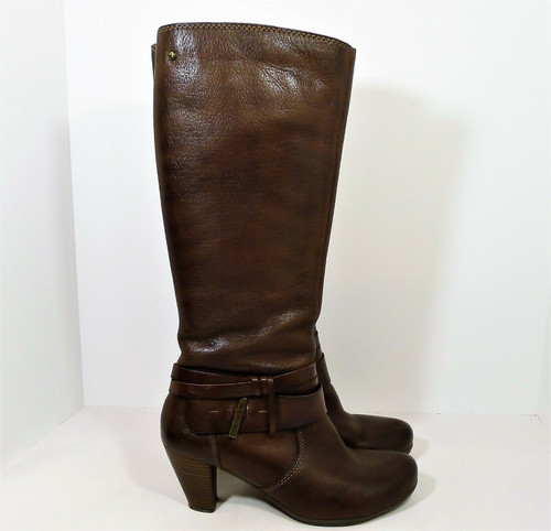 Pikolinos Women's Brown Leather Heeled Tall Boots Size 37 (US Size 7-7.5)