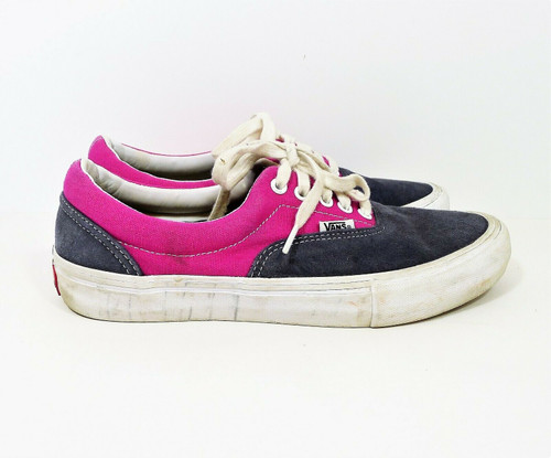 Vans Men's Blue Gray and Pink Lace Up Skateboard Shoes Size 9 - 721454