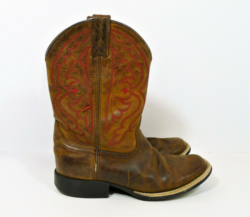 Ariat Kid's Brown Quickdraw Youth Western Boots Size 1.5 - Style 10004853