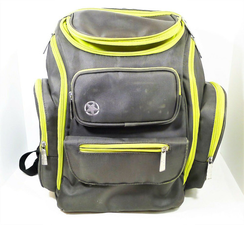 J is for Jeep Gray/Lime Perfect Pockets Backpack Diaper Bag **NO CHANGING PAD