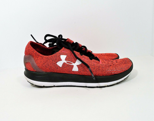 Under Armour Women's Red/Black Slingride Lace Up Running Trainers Shoes Size 7
