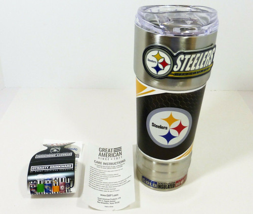Pittsburgh Steelers 32oz. Stainless Steel Hot/Cold Insulated Beverage Mug NEW