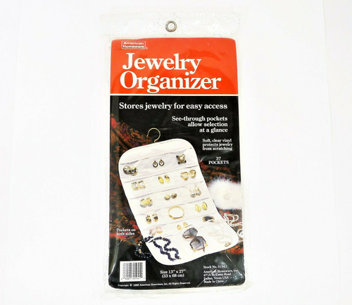 "American Homeware Jewelry Organizer Size 13"" x 27"" Stock No. 01941 - NEW SEALED"
