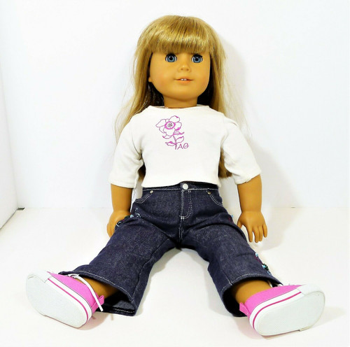 "American Girl 18"" Doll with Blonde Hair, Bangs and Blue Eyes  - *CUT HAIR"