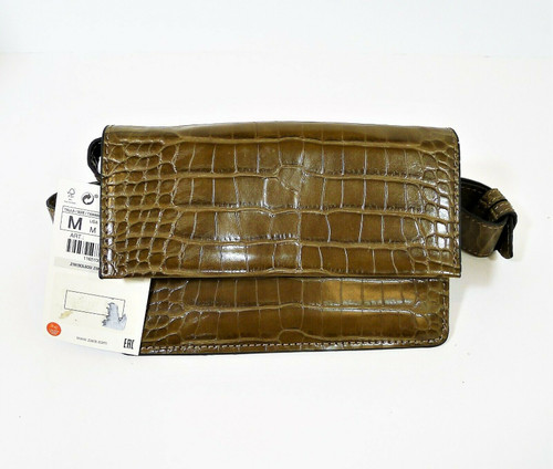 Zara Brown Belt Bag Fanny Pack Purse with Shoulder Strap - NEW WITH TAGS