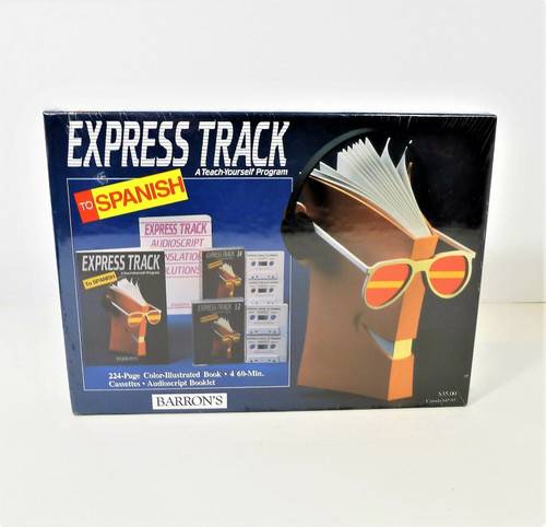 Barron's Express Track to Spanish A Teach Yourself Program Audio Cassettes - NEW