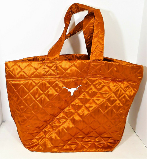 University Coop Burnt Orange University of Texas Quilted Tote Bag- NEW WITH TAGS