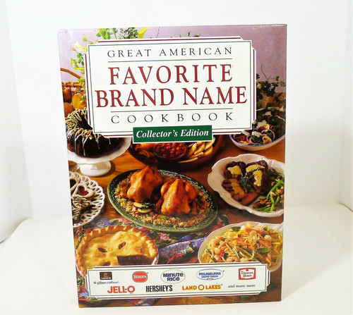 Great American Brand Name Cookbook Collector's Edition Hardback Book