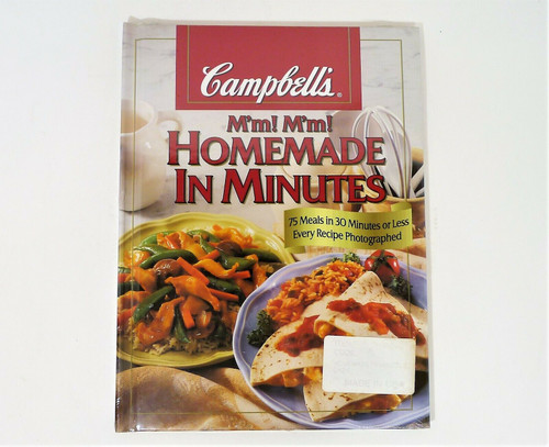 Campbell's M'm! M'm! Homemade In Minutes Hardcover Book Cookbook - NEW SEALED