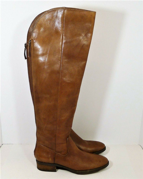 Arturo Chiang Women's Brown Leather Tall Zip Boots Size 6.5
