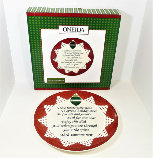 Oneida Christmas Goodies Share Cookie Tray Plate - NEW