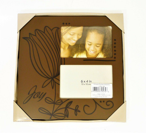 """Pinnacle Frames and Accents Brown Joy Wooden Frame 11"""" x 11"""" - NEW"""