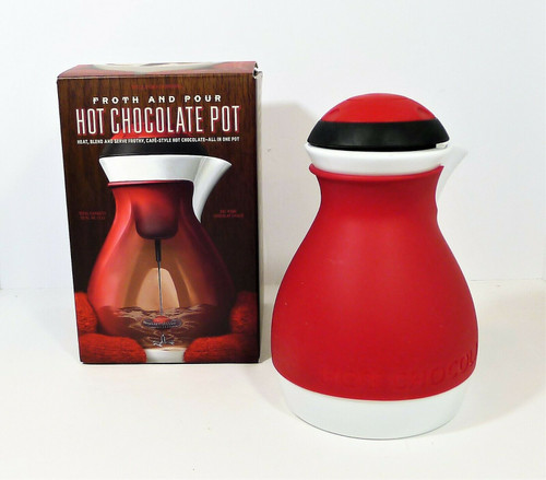 Williams Sonoma Froth & Pour Ceramic Hot Chocolate Pot - BATTERIES NOT INCLUDED