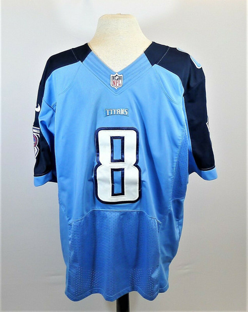 NFL Blue On Field Jersey #8 Marcus Mariota Tennessee Titans Size 40