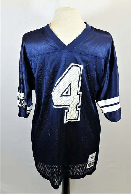 Dallas Cowboys Authentic Men's Blue NFL Dak Prescott #4 Jersey Size M