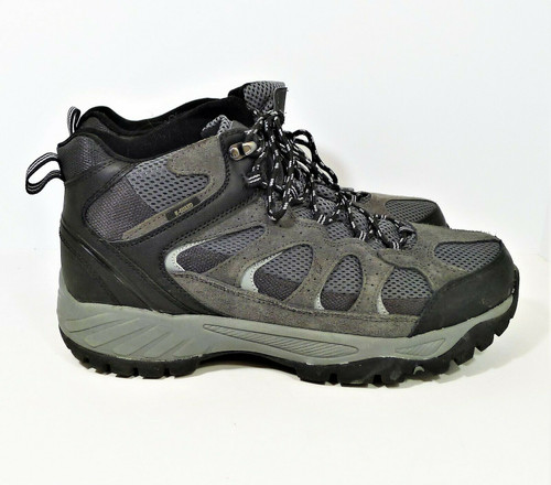 Khombu Men's Gray/Black Suede Leather Tyler All Terrain Hiking Boots Size 11 M