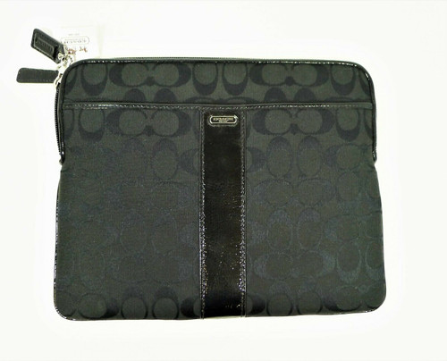 Coach Black Signature Universal Tablet Case  - NEW WITH TAGS